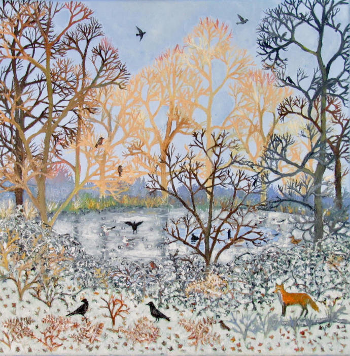Emma Haworth, Frozen Pond, 2017