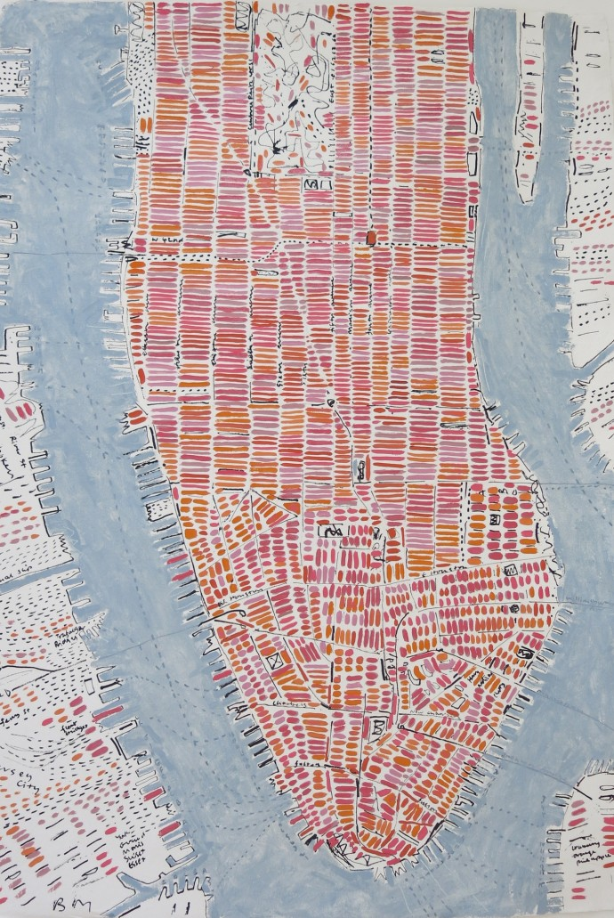 <span class=&#34;title_and_year&#34;><em>Rose Manhattan</em>, 2015<span class=&#34;title_and_year_comma&#34;>, </span></span><span class=&#34;medium&#34;>ink and oil on handmade paper<span class=&#34;medium_comma&#34;>, </span></span><span class=&#34;dimensions&#34;>138 x 98 cm<br/>54 3/8 x 38 5/8 in</span>