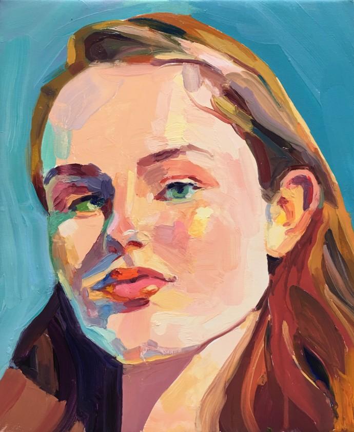 Barbara Hoogeweegen, Blue, 2018