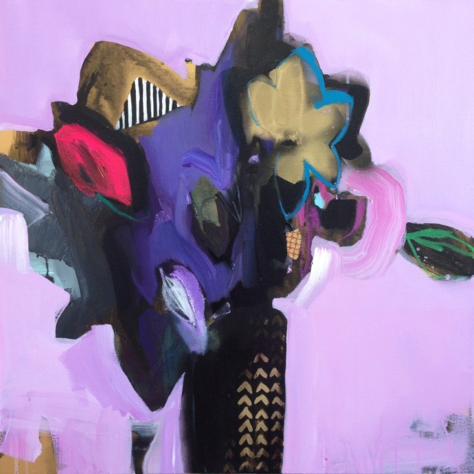 Emily Filler, Vase Of Flowers (Magenta), 2014