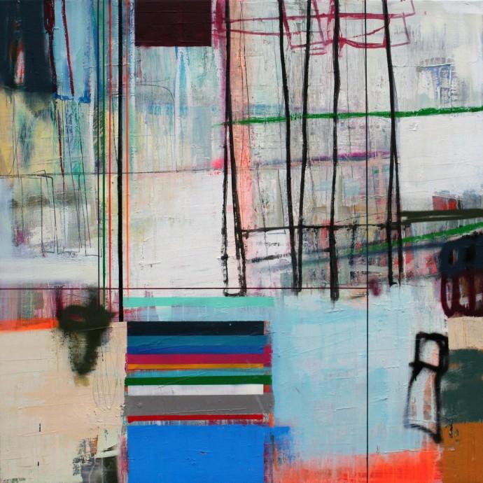 <div class=&#34;artist&#34;><strong>Morten Lassen</strong></div><div class=&#34;title&#34;><em>Interference E</em>, 2016</div><div class=&#34;medium&#34;>oil and spray on linen</div><div class=&#34;dimensions&#34;>120 x 120 cm<br>47 1/4 x 47 1/4 in</div>