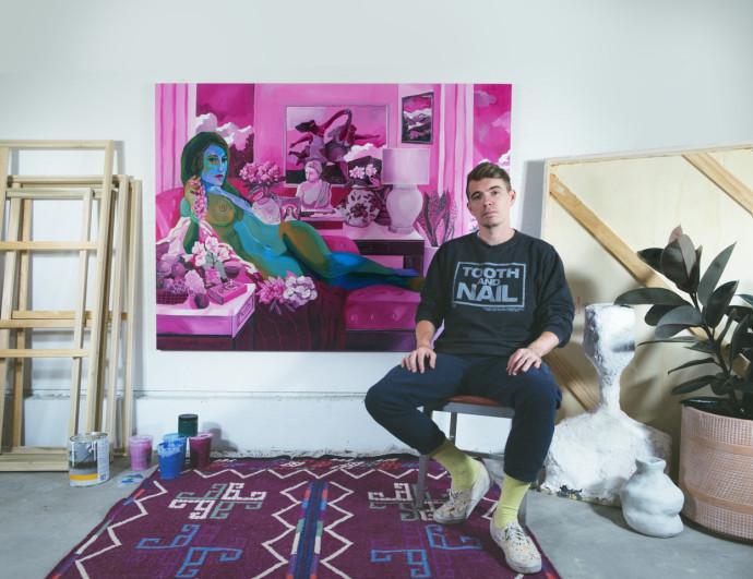 John Holcomb, John Holcomb in his studio , 2019