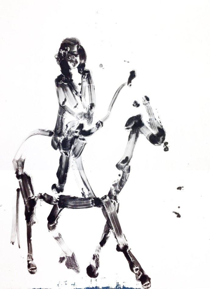 Ilona Szalay, Woman on Horse, 2013