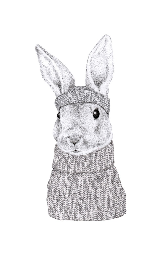 Jackie Case, Knitted Bunny, 2014