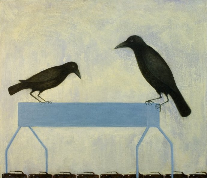 Alasdair Wallace, Gantry Crows, 2011