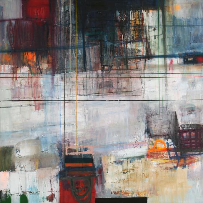 <div class=&#34;artist&#34;><strong>Morten Lassen</strong></div><div class=&#34;title&#34;><em>Integrated F </em>, 2017</div><div class=&#34;medium&#34;>oil and spray paint on linen </div><div class=&#34;dimensions&#34;>150 x 150 cm <br>59 x 59 in</div>