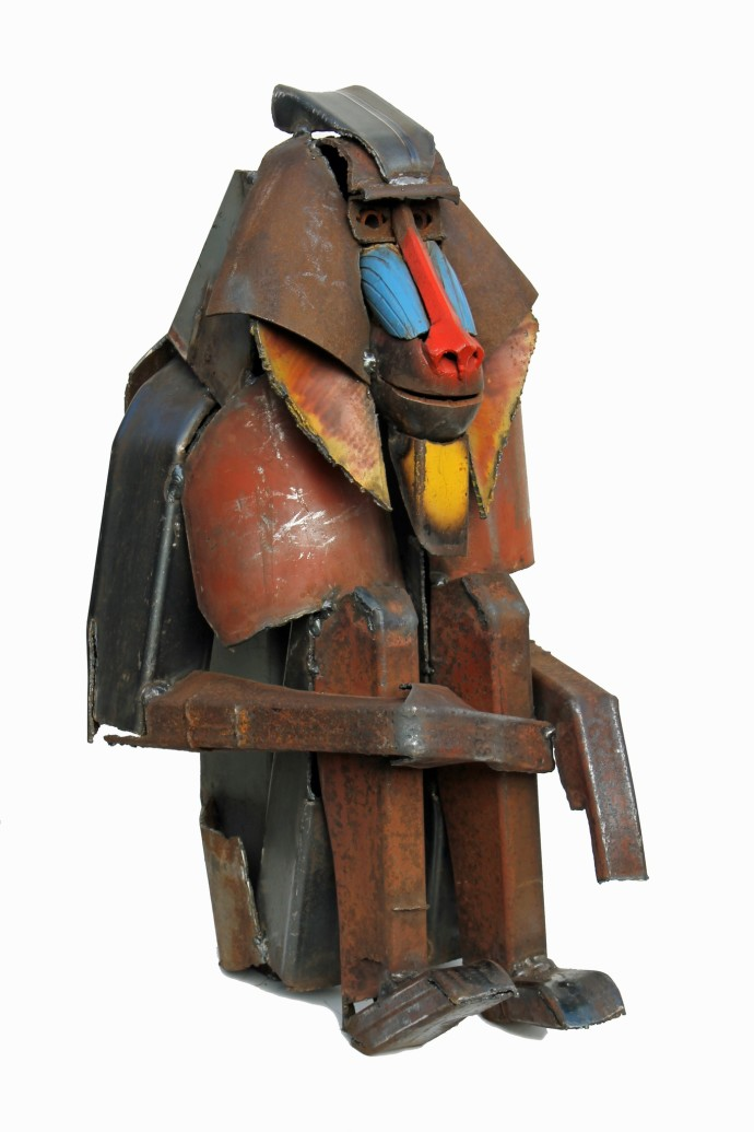 <div class=&#34;artist&#34;><strong>Iain Nutting</strong></div><div class=&#34;title&#34;><em>Mandrill</em>, 2016</div><div class=&#34;medium&#34;>reclaimed scrap metal</div><div class=&#34;dimensions&#34;>79 x 45 x 51 cm<br>31 1/8 x 17 3/4 x 20 1/8 in</div>