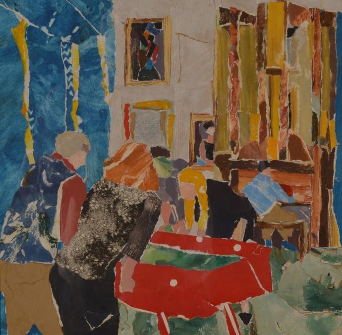 Dione Verulam, Playing the Organ and Bar Football, Gorhambury, 2014