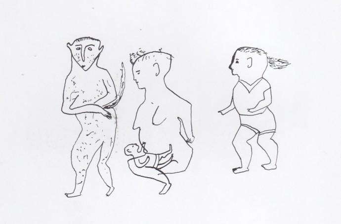 Mathias Kauage, Kauage childhood drawing