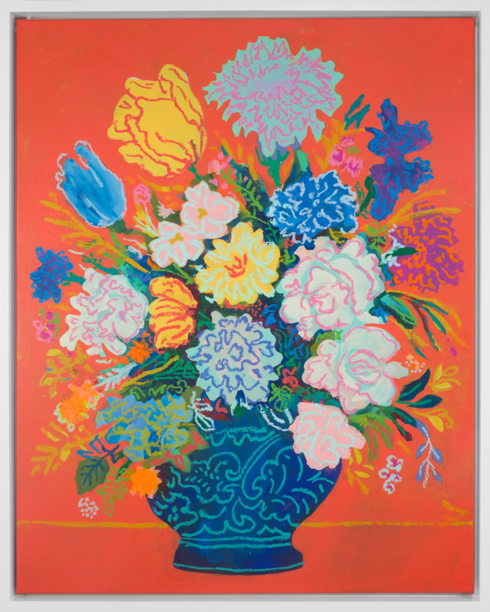John Holcomb, Floral Tangerine Orange, 2017