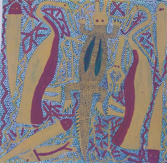 Sambo Barra Barra, Crocodile and Waters Birds , 1993