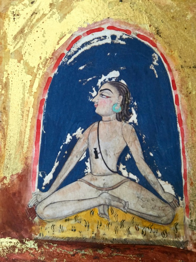 <div class=&#34;artist&#34;><strong>Katherine Virgils</strong></div><div class=&#34;title&#34;><em>Yogi Miniature No. 36</em>, 2016</div><div class=&#34;medium&#34;>mixed media with gold leaf</div><div class=&#34;dimensions&#34;>17.5 x 11.5 cm</div><div class=&#34;edition_details&#34;>edition of 10</div>