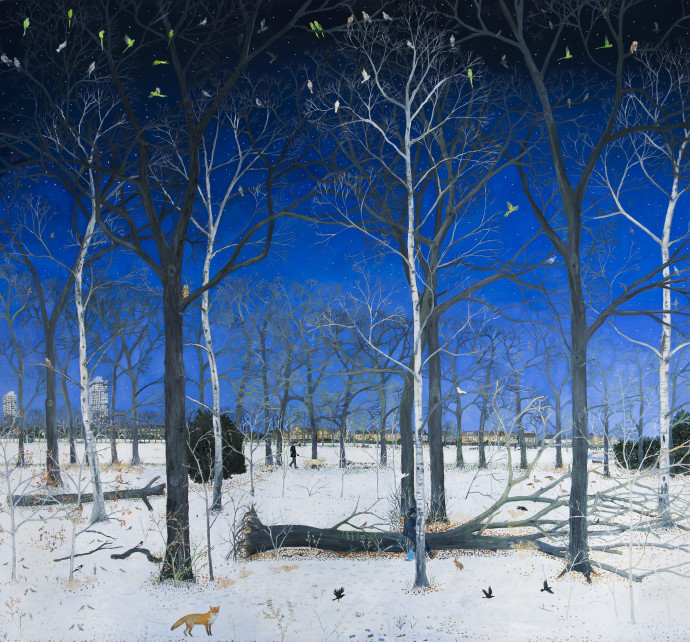Emma Haworth, Snowy Wood, 2017
