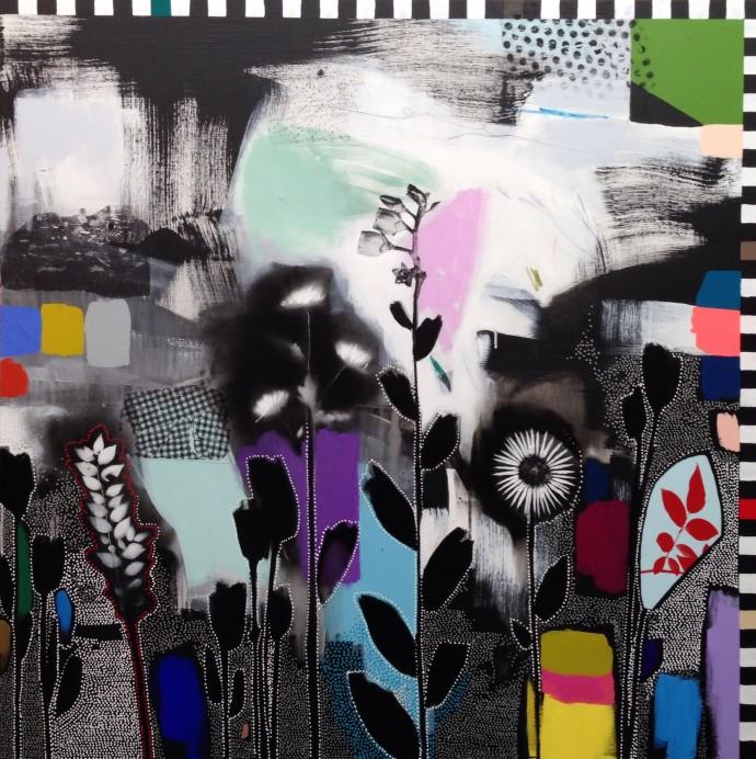 <div class=&#34;artist&#34;><strong>Emily Filler</strong></div><div class=&#34;title&#34;><em>Dreamscape (wildflowers) I</em>, 2016</div><div class=&#34;medium&#34;>mixed media on canvas</div><div class=&#34;dimensions&#34;>152 x 152 cm<br>59 7/8 x 59 7/8 in</div>