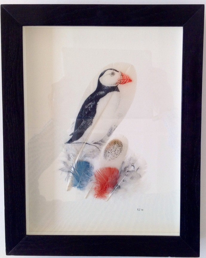Rebecca Jewell, Puffin and Egg, 2014