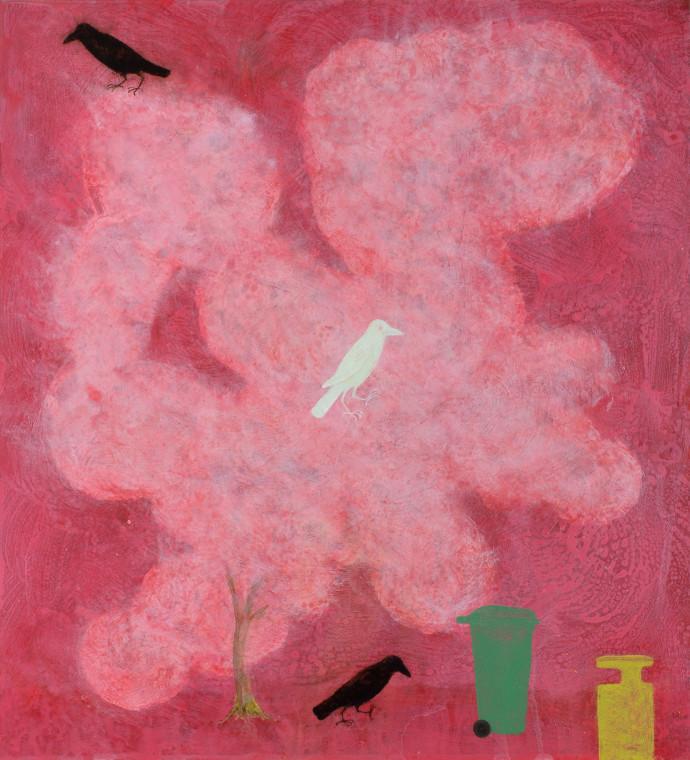 <div class=&#34;artist&#34;><strong>Alasdair Wallace</strong></div><div class=&#34;title&#34;><em>Blossom Crows</em>, 2016</div><div class=&#34;medium&#34;>acrylic on board</div><div class=&#34;dimensions&#34;>49 x 46 cm<br>19 1/4 x 18 1/8 in</div>