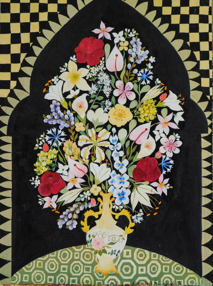 Hepzibah Swinford, Black and White Flowers, 2016