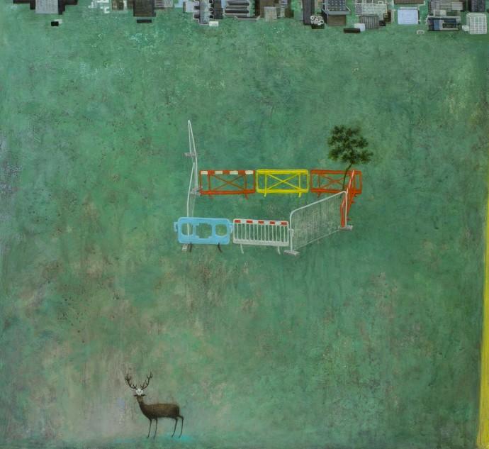 <div class=&#34;artist&#34;><strong>Alasdair Wallace</strong></div><div class=&#34;title&#34;><em>Deer Park</em>, 2016</div><div class=&#34;medium&#34;>acrylic on board</div><div class=&#34;dimensions&#34;>47 x 50 cm<br>18 1/2 x 19 3/4 in</div>