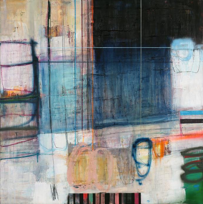 <div class=&#34;artist&#34;><strong>Morten Lassen</strong></div><div class=&#34;title&#34;><em>Integrated I</em>, 2017</div><div class=&#34;medium&#34;>oil and spray paint on linen </div><div class=&#34;dimensions&#34;>120 x 120 cm <br>47 x 47 in</div>