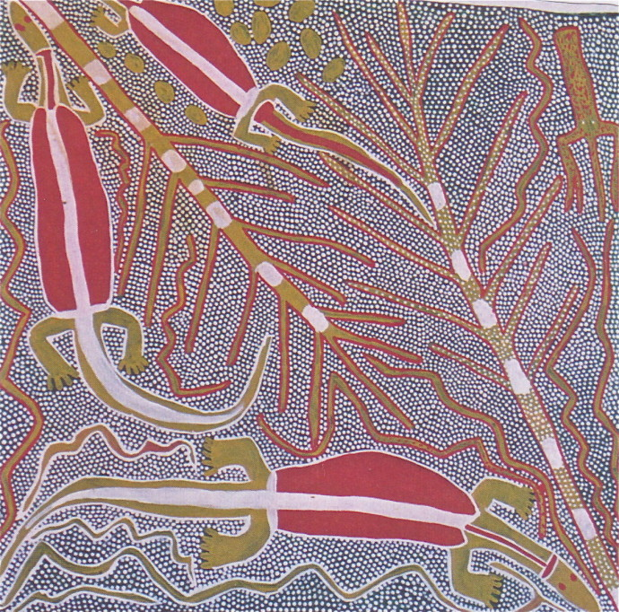 Sambo Barra Barra, Three Goannas , 1995