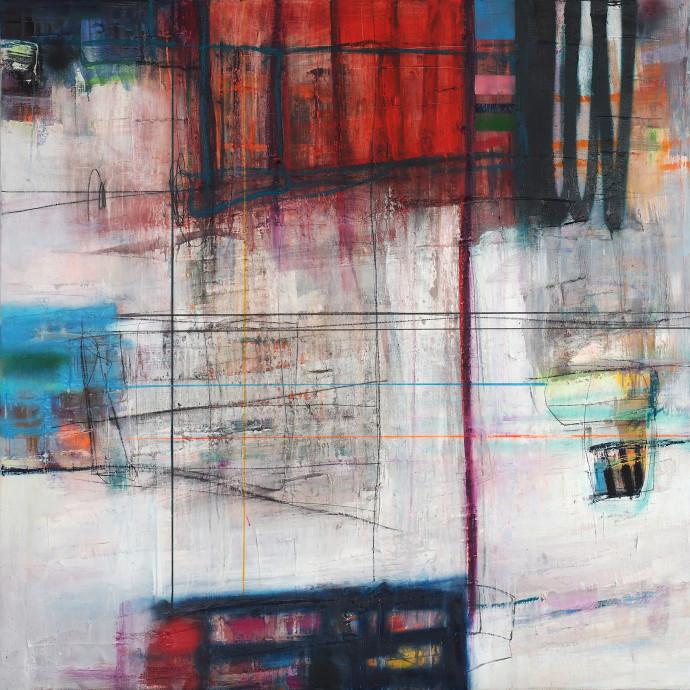 <div class=&#34;artist&#34;><strong>Morten Lassen</strong></div><div class=&#34;title&#34;><em>Integrated H</em>, 2017</div><div class=&#34;medium&#34;>oil and spray paint on linen </div><div class=&#34;dimensions&#34;>150 x 150 cm<br>59 x 59 in</div>