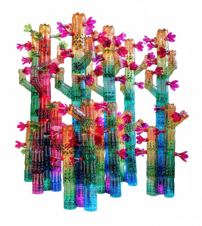 <div class=&#34;artist&#34;><strong>Edgardo Rodriguez</strong></div><div class=&#34;title&#34;><em>Cactus Family</em>, 2014</div><div class=&#34;medium&#34;>recycled plastic bottles</div>