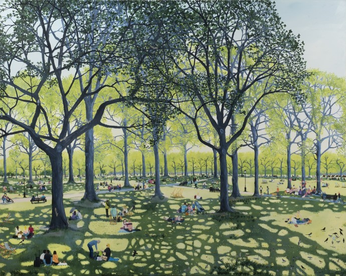 <span class=&#34;title_and_year&#34;><em>Under The Trees</em>, 2016<span class=&#34;title_and_year_comma&#34;>, </span></span><span class=&#34;medium&#34;>oil on linen<span class=&#34;medium_comma&#34;>, </span></span><span class=&#34;dimensions&#34;>120 x 150 cm<br/>47 1/4 x 59 1/8 in</span>