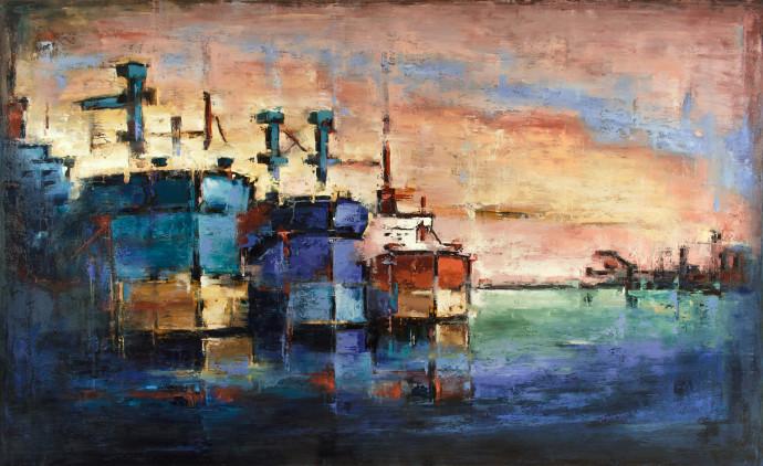 <div class=&#34;artist&#34;><strong>Tilemachos Kyriazatis</strong></div><div class=&#34;title&#34;><em>Atlantis</em>, 2017</div><div class=&#34;medium&#34;>oil on canvas</div><div class=&#34;dimensions&#34;>110 x 180 cm<br>43 1/4 x 70 7/8 in</div>