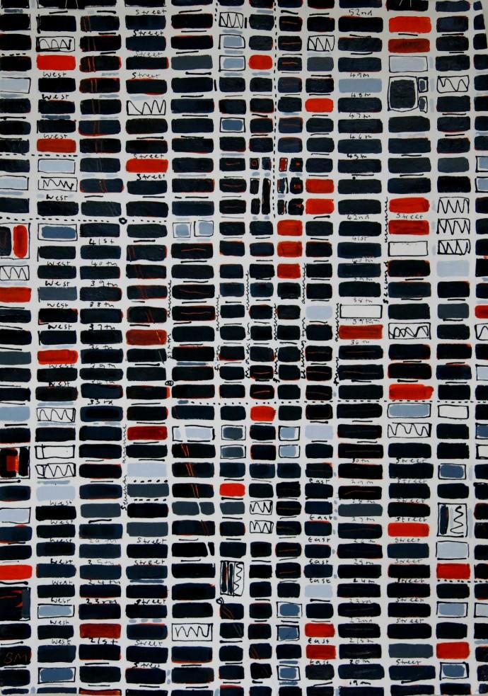 Barbara Macfarlane, Midtown Slate, Orange, Grey, 2016