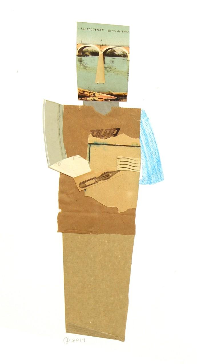 Jerry Jeanmard, Bridgekeeper (Paper People 3), 2015
