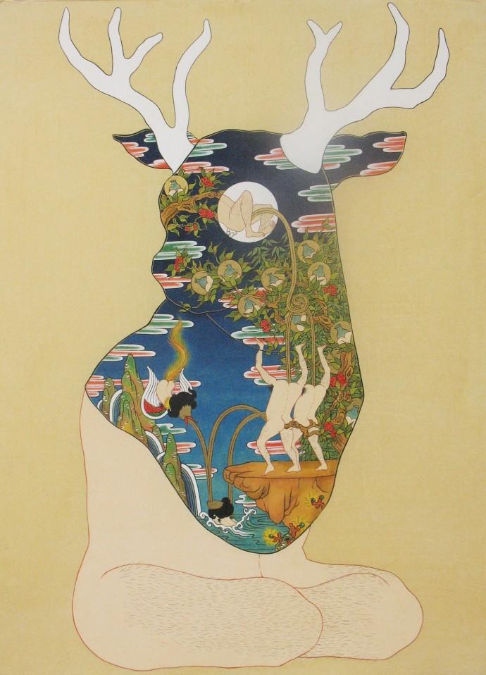 Song-Nyeo Lyoo, Deer II, 2011