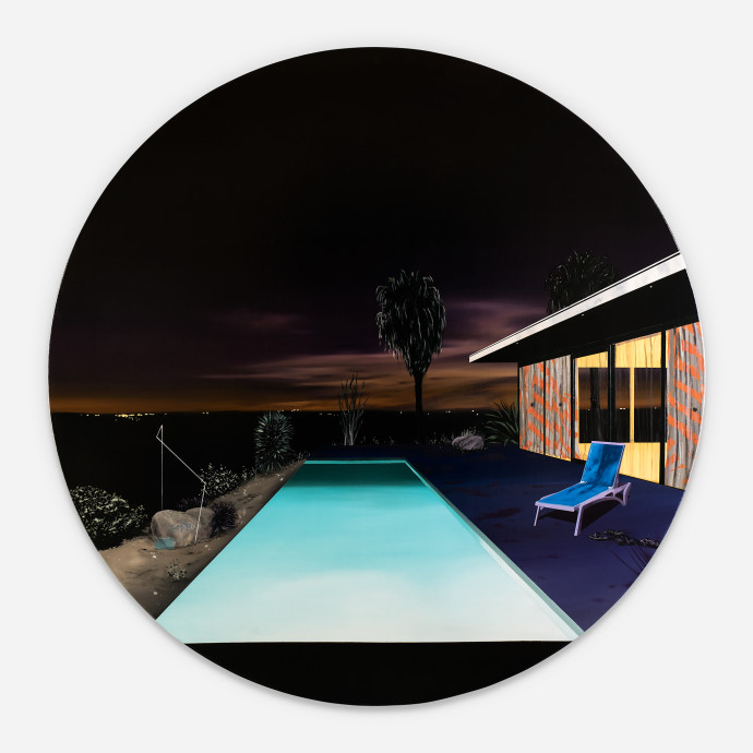 Laurence Jones, Infinity Pool (Night Scene), 2017
