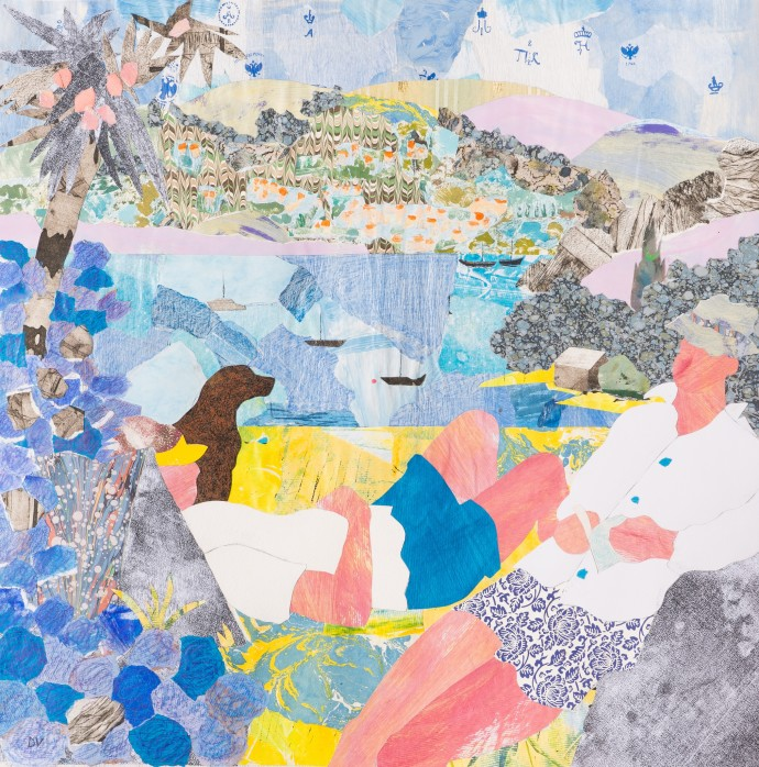 <div class=&#34;artist&#34;><strong>Dione Verulam</strong></div><div class=&#34;title&#34;><em>Beside the Sea, Cornwall</em>, 2016</div><div class=&#34;medium&#34;>Collage</div><div class=&#34;dimensions&#34;>61 x 61 cm<br>24 1/8 x 24 1/8 in</div>