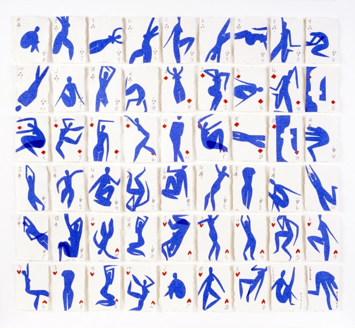 <p><b>Holly Frean,&#160;</b><i>A Pack of Blue Figures (Ode to Matisse No.4)</i><span>, 2015,&#160;</span><span>mixed media on paper,&#160;</span><span>48 7/8 x 44 7/8 in</span></p>