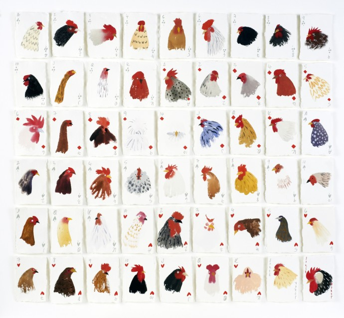 <p><b>Holly Frean,&#160;</b><i>A Pack on Chickens</i><span>, 2015,&#160;</span><span>gouache on paper,&#160;</span><span>48 7/8 x 56 3/4 in</span></p>