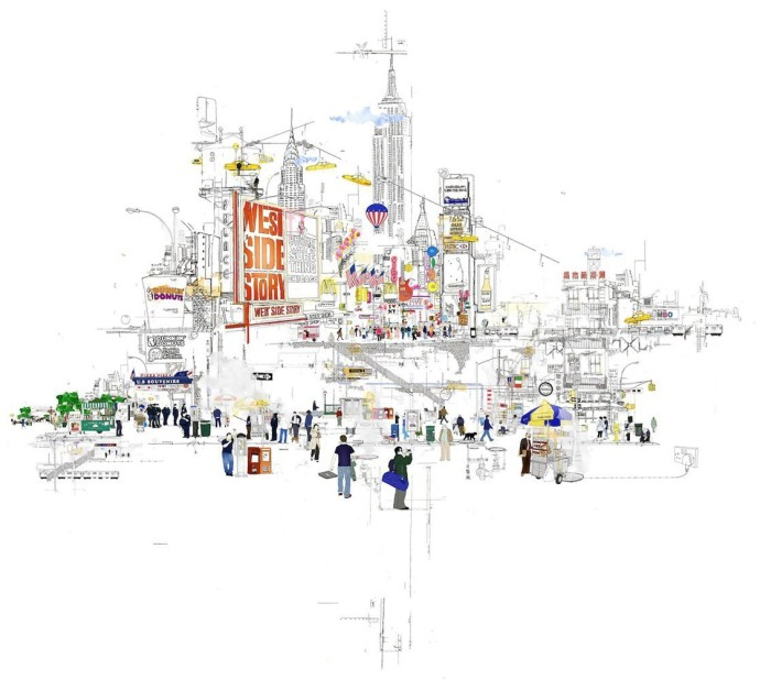 <p><b>Laura Jordan, </b><i>Lost in New York</i>, 2012, hand-finished print, 38 1/4 x 28 1/2 in</p>