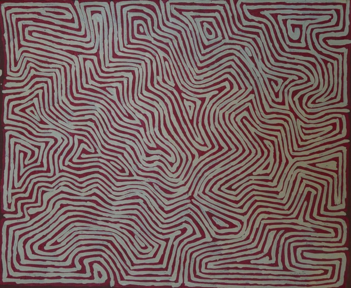 <p><b>George Tjungurrayi,&#160;</b><span>Untitled, 2014,&#160;</span><span>inscribed verso: Papunya Tula Artists 1407006,&#160;</span><span>synthetic polymer paint on linen,&#160;</span><span>46 x 38 cm,&#160;</span><span>18 1/8 x 15 in</span></p>