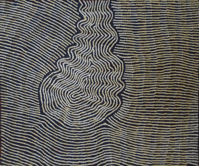 <p><b>Yukultji Napangati,&#160;</b><span>Untitled, 2013,&#160;</span><span>inscribed verso: Papunya Tula Artists 1303036,&#160;</span><span>synthetic polymer paint on linen,&#160;</span><span>46 x 38 cm,&#160;</span><span>18 1/8 x 15 in</span></p>