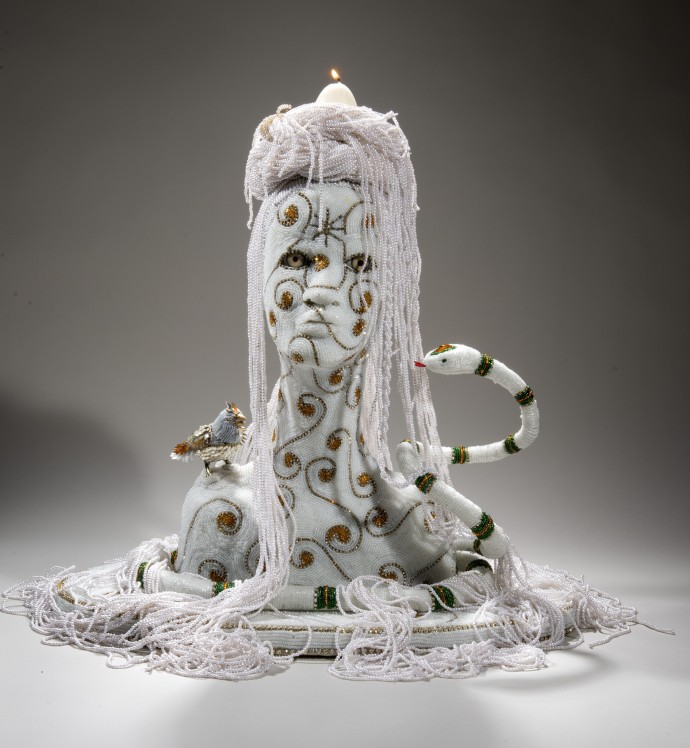 Nancy Josephson, Damballah Spirit Head, 2014-2015