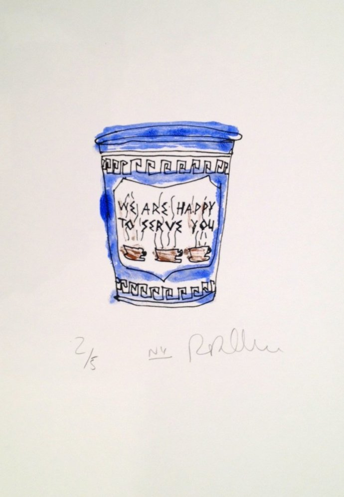 <p><strong>Rob Clarke</strong><strong>, </strong><em>Coffeee</em> (Blue), 2012,&#160;<span style=&#34;line-height: 1.5em;&#34;>Monoprint on Heritage Paper,&#160;</span><span style=&#34;line-height: 1.5em;&#34;>16 x 11.4 inches</span></p>