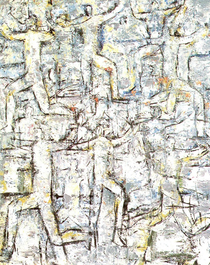 'Figures', 1989, oil on canvas, 152 x 122 cm