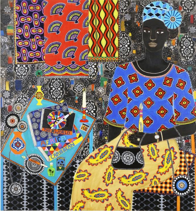 Carla Kranendonk, Nola, 2019, mixed media on canvas, 150 x 140 cm