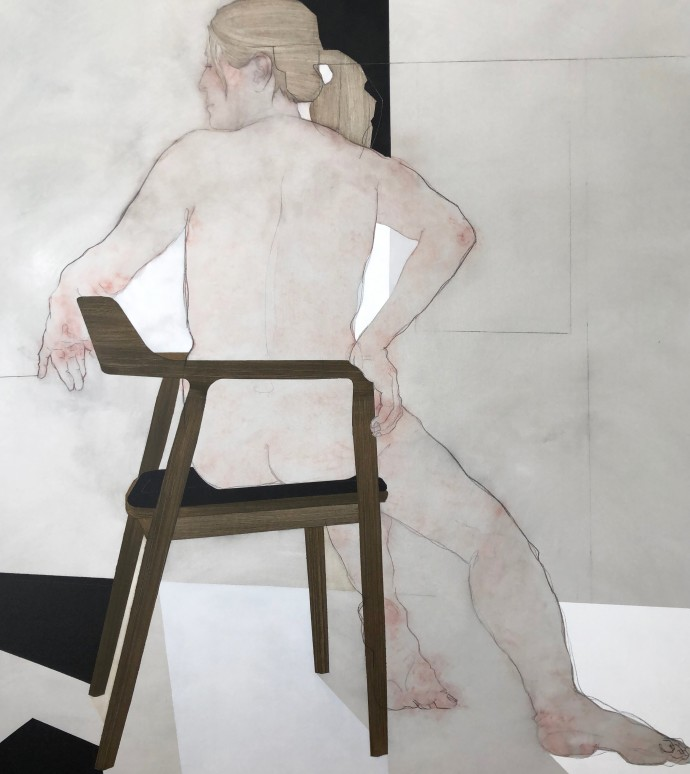 Nikoleta Sekulovic, Nossis of Locri, 2019, acrylic and graphite on canvas, 167 x 150 cm