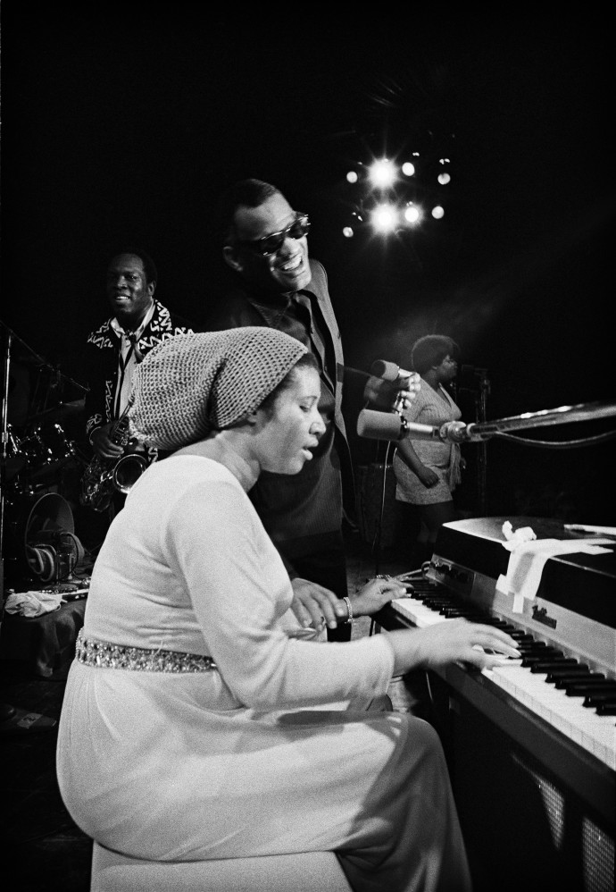 Jim Marshall, Aretha Franklin, Ray Charles & King Curtis - Fillmore West, 1972, photograph, Edition of 25, 50.8 x 40.6 cm, 20 x 16 in © Jim Marshall Photography LLC