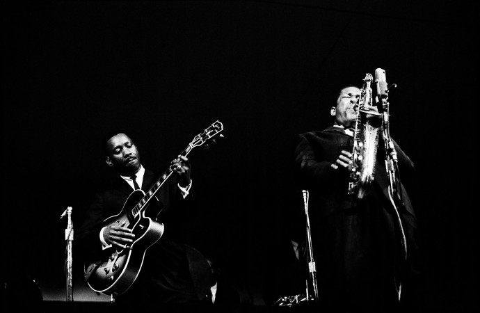 Jim Marshall, John Coltrane & Wes Montgomery, Monterey Jazz Festival, 1961, Photograph (unframed), Edition of 25, 50.8 x 61 cm, 20 x 24 in © Jim Marshall Photography LLC