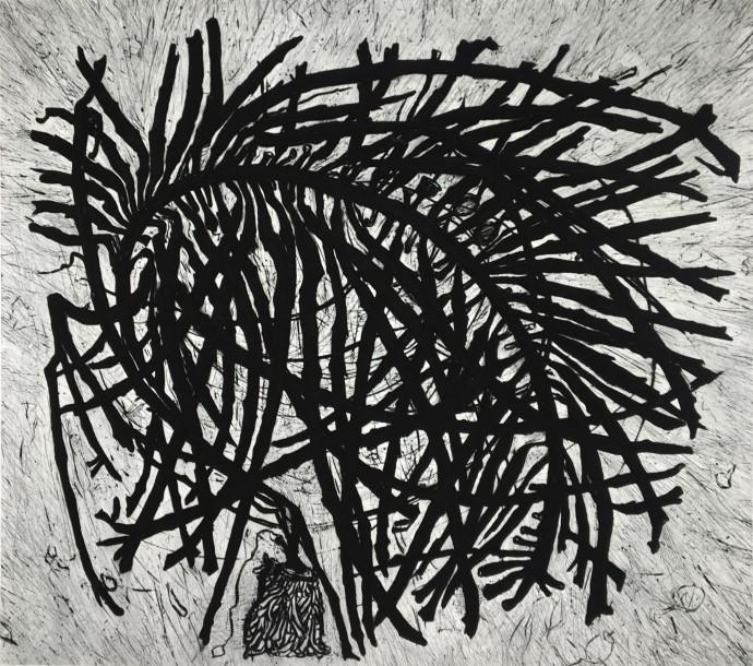 Hertha Kluge-Pott, Wings of Kelp, 2009, drypoint, 44 x 49.5 cm, edition of 12
