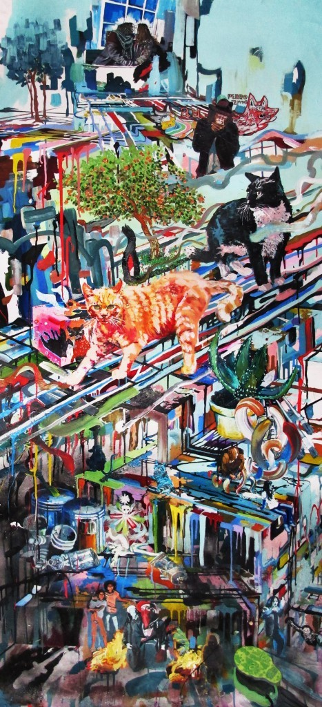 <p><strong>SECOND PRIZE</strong></p><p><strong>Rene Gonzalez</strong>,&#160;<em>Painter's Studio</em>, 2013, acrylic on canvas, 160 x 90cms</p>