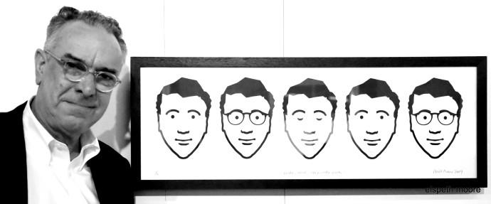 <div><em>Wake, Work, Sleep, Wake, Work,&#160;</em>screen print with beard, 90 x 36 cm</div>