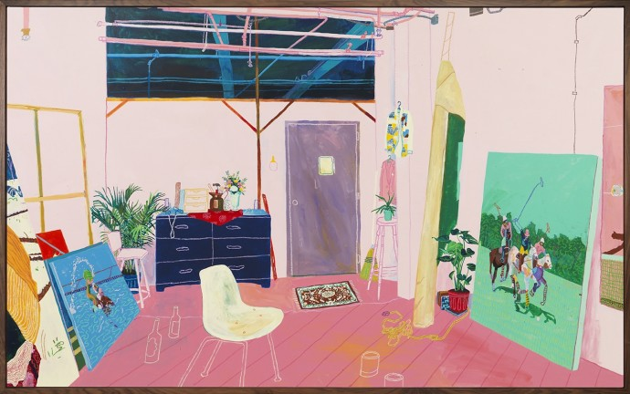 Andy Dixon, New York Studio (After Matisse and Yanai), 2015