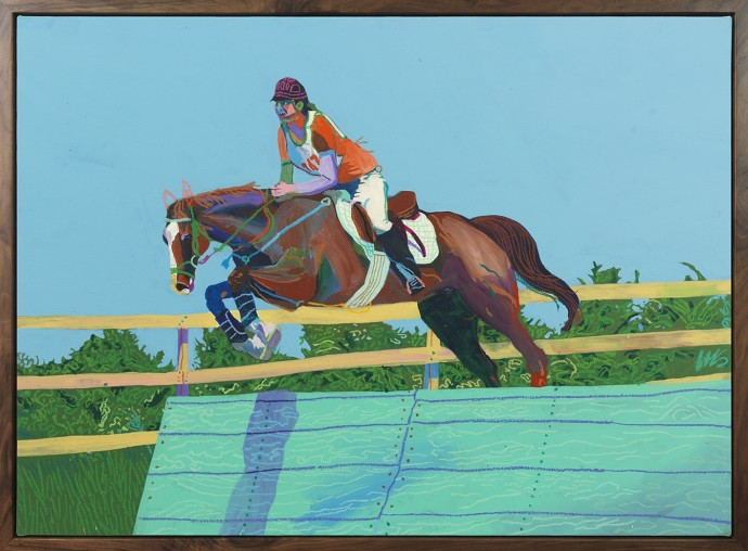 <p><b>Andy Dixon,&#160;</b><i>Show Jumping</i><span>, 2015,&#160;</span><span>acrylic, house paint, and oil pastel on canvas,&#160;</span><span>88.9 x 121.9 cm,&#160;</span><span>35 x 48 in</span></p>
